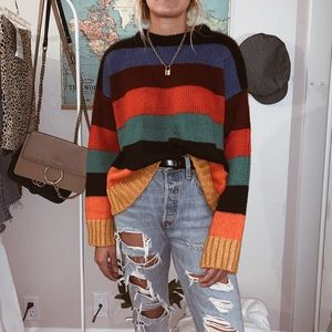 Multi colored sweater